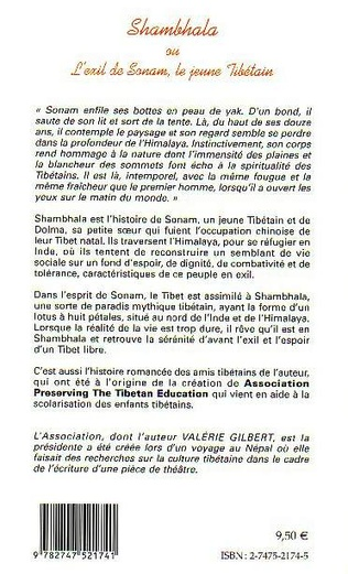 4eme SHAMBHALA OU L'EXIL DE SONAM, LE JEUNE TIBÉTAIN