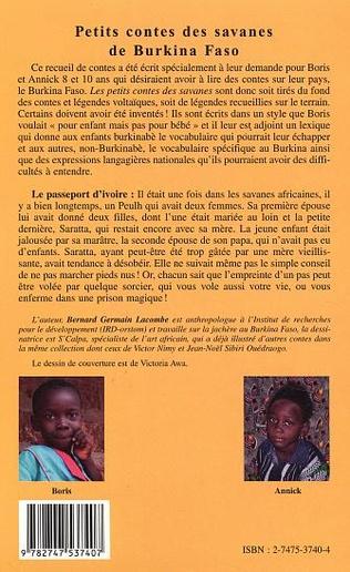 4eme Petits contes des savanes du Burkina Faso