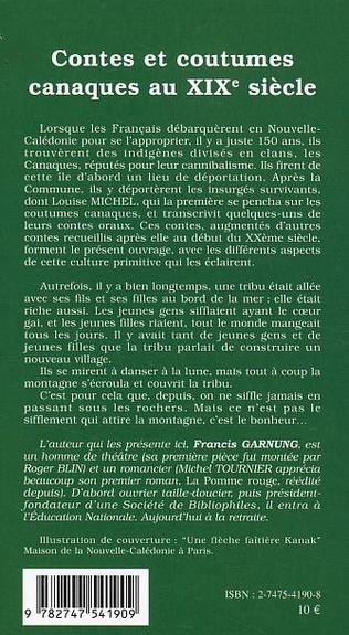 4eme Contes et coutumes canaques au XIXe siècle