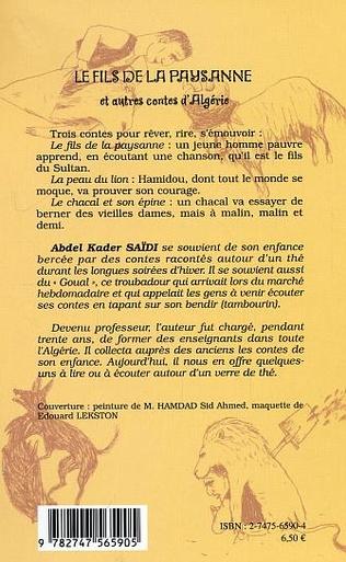 4eme Le fils de la paysanne et autres contes d'Algérie