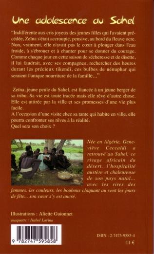 4eme Une adolescence au Sahel