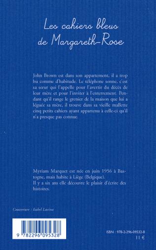 4eme Les cahiers bleus de Margareth-Rose